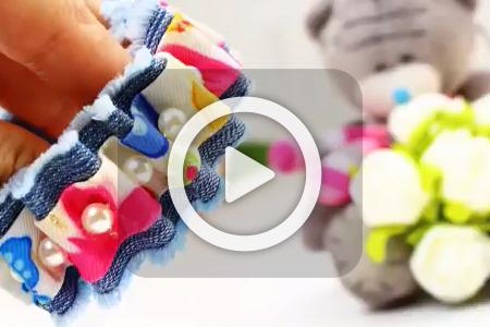 فیلم ساخت دستبند با پارچه جین