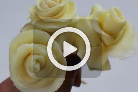 فیلم آموزش درست کردن گل رز شکلاتی 1