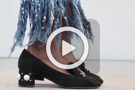 فیلم آموزش تزیین کفش ساده
