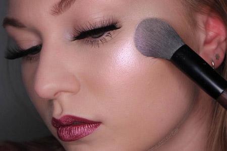 مدل آرایش چشم لب صورت 13