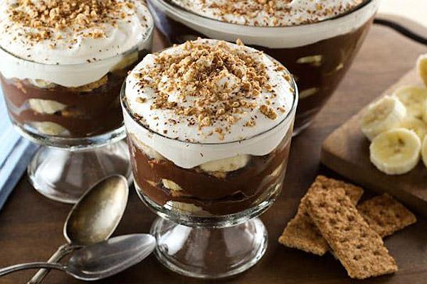 پودینگ شکلاتی و موز 4