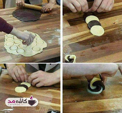 آموزش تهیه شیرینی گل رز دو رنگ