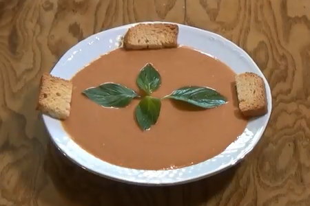 آموزش پخت سوپ گوجه فرنگی
