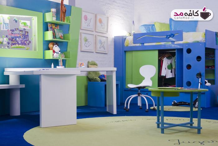 دکوراسیون با رنگ های شاد برای اتاق کودک
