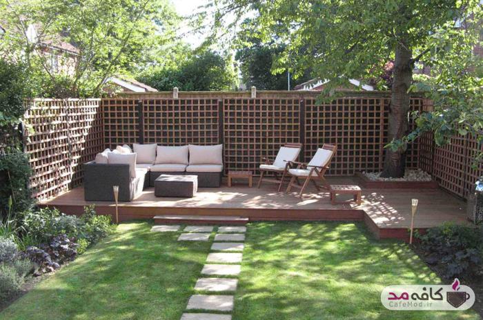 نحوه چیدمان و طراحی فضاهای بیرونی خانه