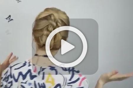 فیلم آرایش موی بلند برای مجالس مهمانی