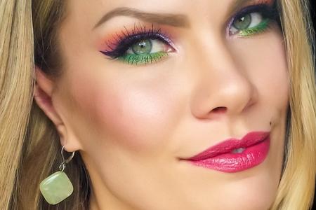 آموزش آرایش چشم با رنگ های شاد 2