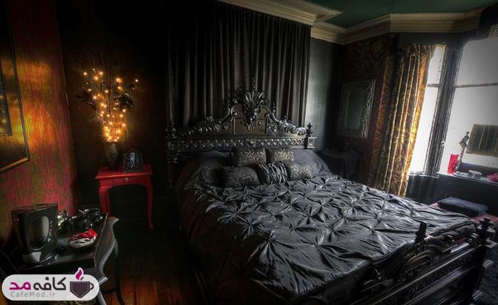 داشتن اتاقخوابی به سبک گوتیک