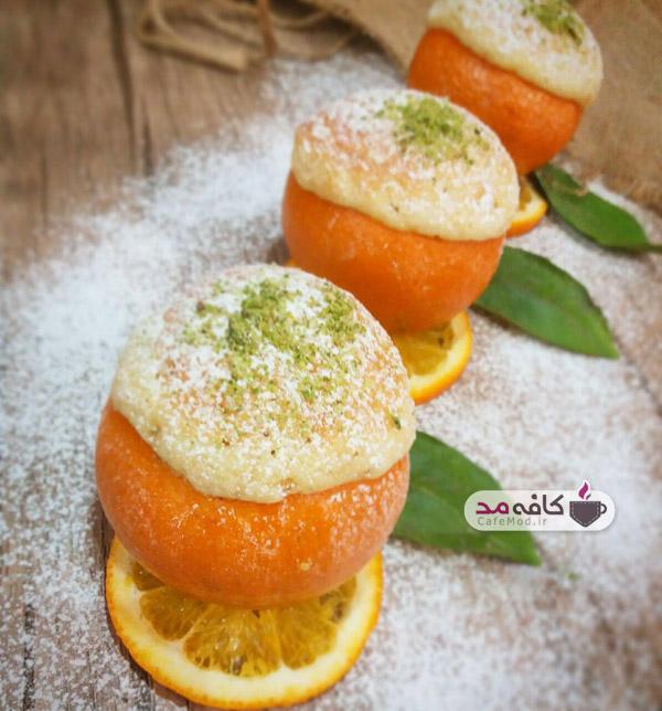 کیک پرتقالی با پوست پرتقال