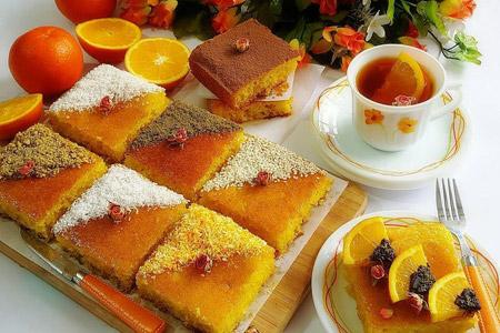 پخت کیک خیس پرتقالی