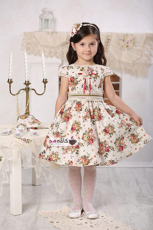 مدل لباس گلدار دخترانه Kindressa