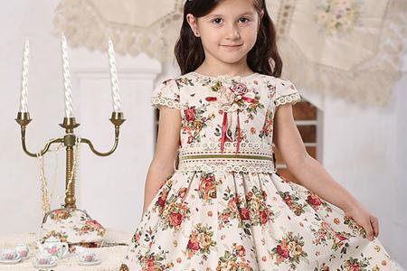 مدل لباس گلدار دخترانه Kindressa 5
