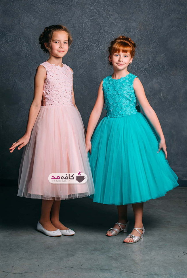 مدل لباس مجلسی دخترانه Maryteks