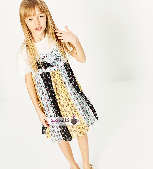 انواع لباس بچه گانه با پارچه نخی کافه مد | مدل لباس بهاره و تابستانه دخترانه Zara