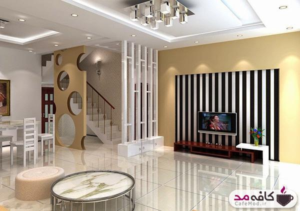 پارتیشن بندی منزل با سالن های بزرگ