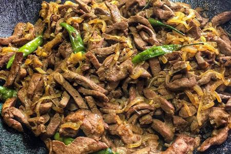 طرز تهیه جگر در تابه