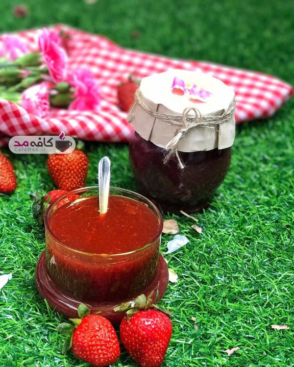 طرز تهیه مارمالاد توت فرنگى