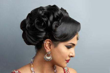 مدل مو و آرایش هندی 9
