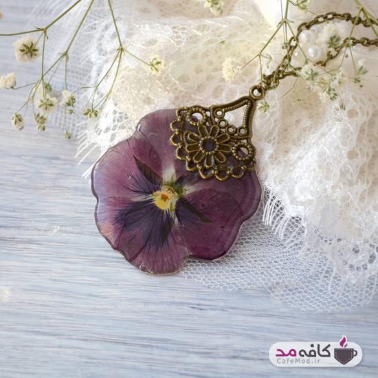 مدل زیورآلات با گل طبیعی