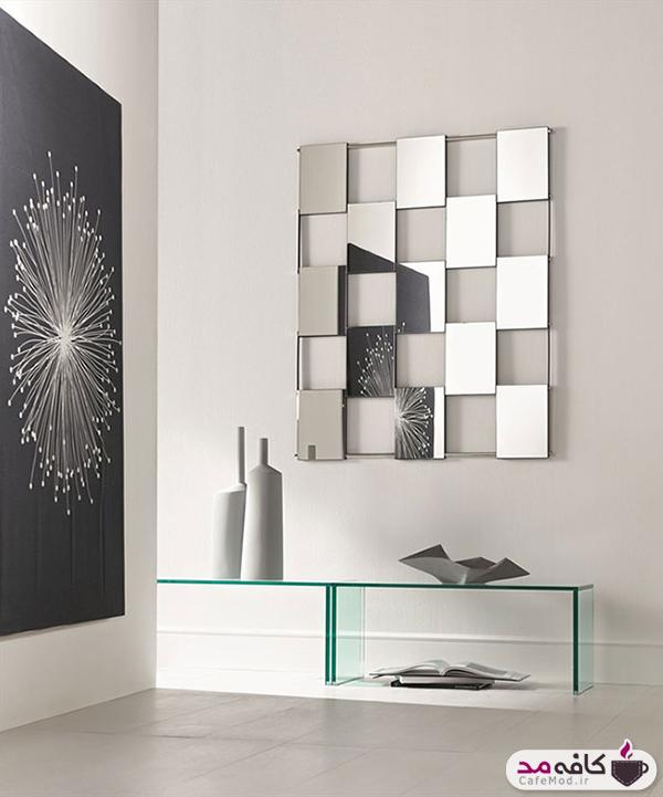 آراستن دیوار با طرح های مربعی