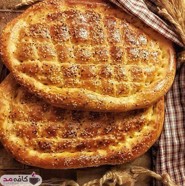 طرز تهیه نان فطیر زعفرانی