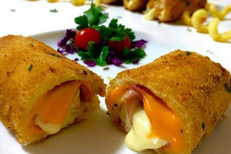 طرز تهیه رول ژامبون پنیرى