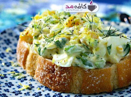 طرز تهیه سالاد تخم مرغ