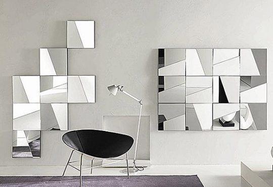 آراستن دیوار با طرح های مربعی 9