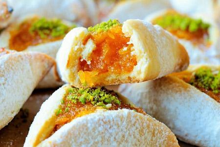 شیرینی زردآلو و پرتقال