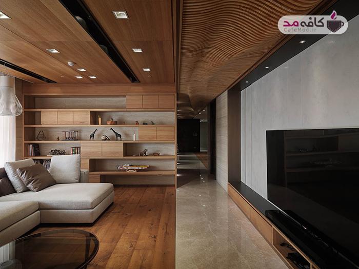 دکوراسیون خانه با طراحی متمرکز بر عناصر چوبی