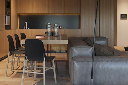دکوراسیون خانه با طراحی متمرکز بر عناصر چوبی 18