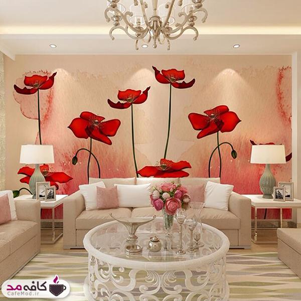 کاغذ دیواری های گلدار برای لوکس کردن منزل