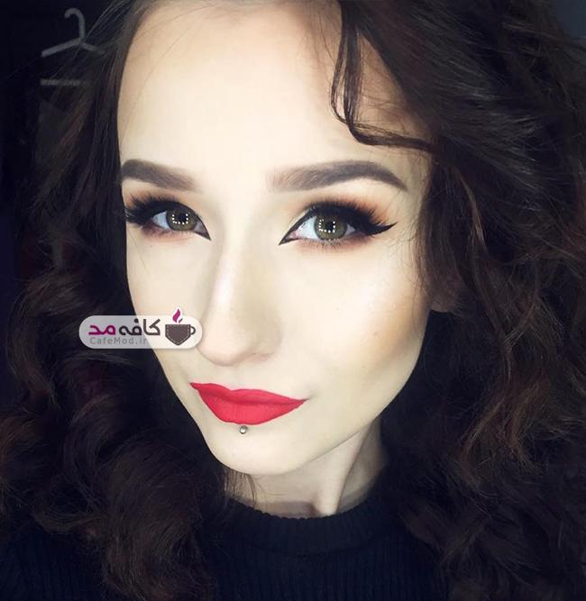مدل های زیبا از آرایش صورت 2017