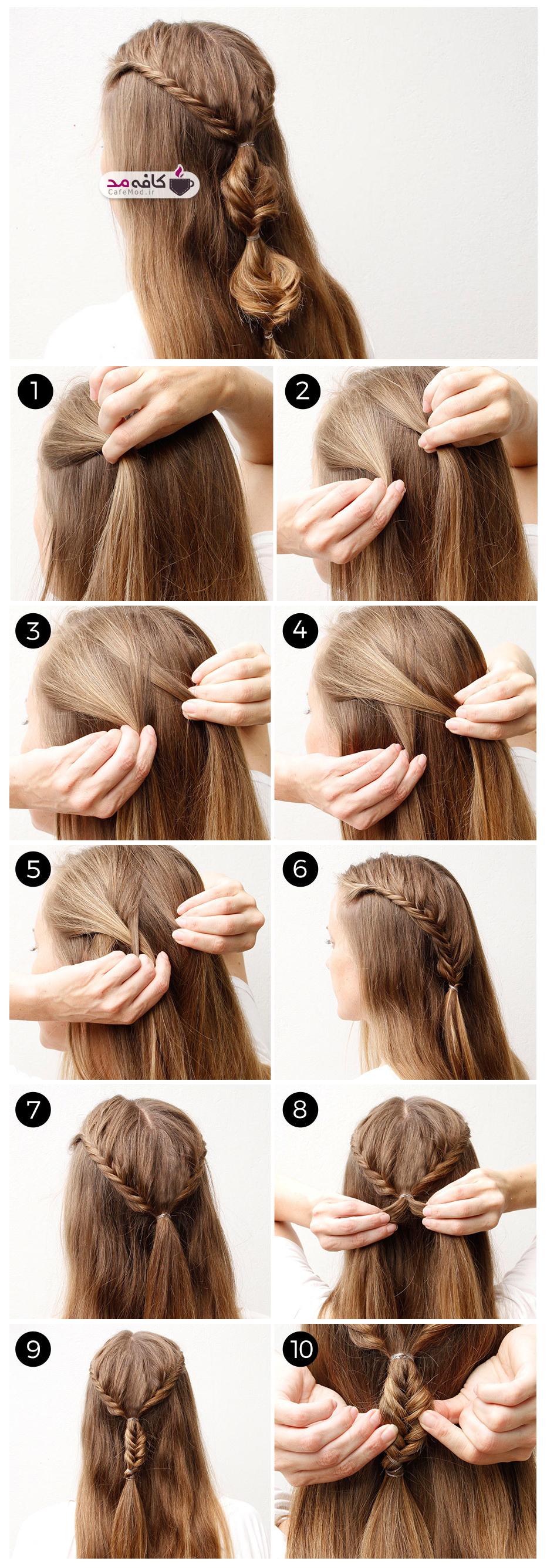 آموزش بافت موی بلند دخترانه