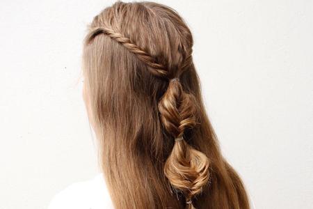آموزش بافت موی بلند دخترانه 2