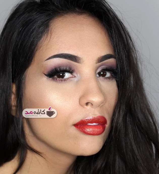مدل آرایش صورت کشیده جدید