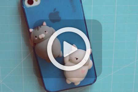 فیلم ساخت عروسک خمیری به شکل گربه