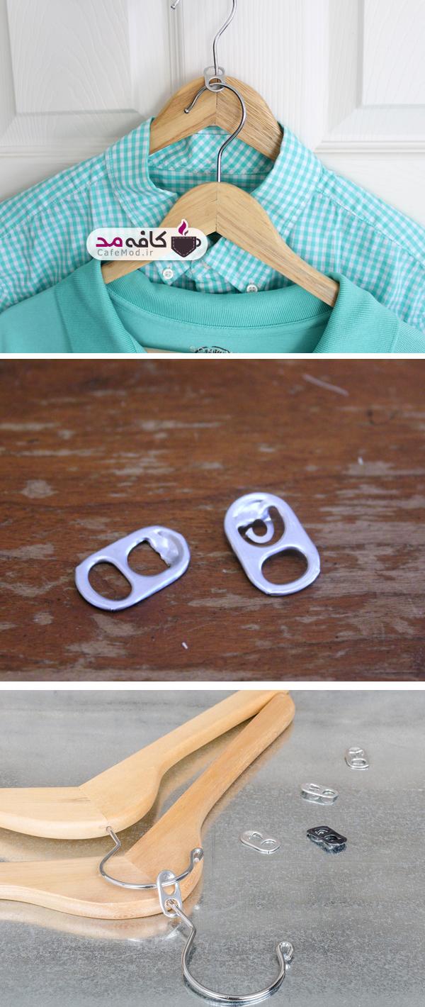 ایده ای جالب برای دوبل آویز کردن لباسها