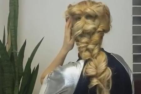 فیلم آموزش بافت موی بلند