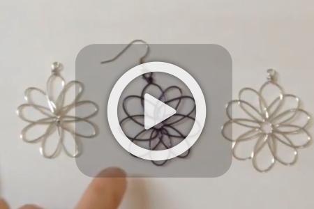 فیلم آموزش ساخت گوشواره های سیمی