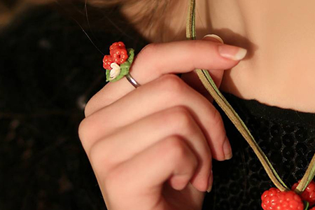 مدل زیورآلات دست ساز طرح میوه ای 10
