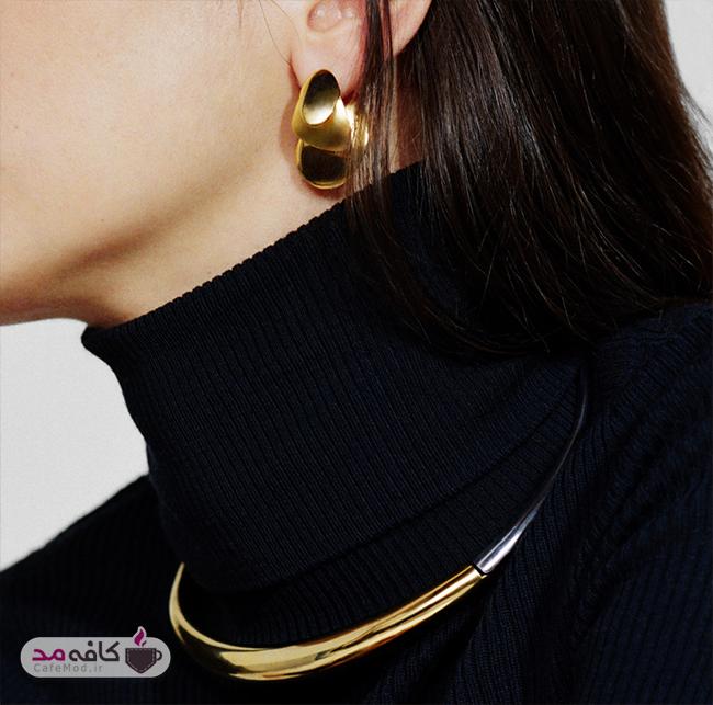 مدل گوشواره و گردنبند طلای Sia Taylor