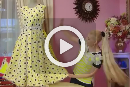فیلم آموزش دوخت لباس مجلسی کوتاه