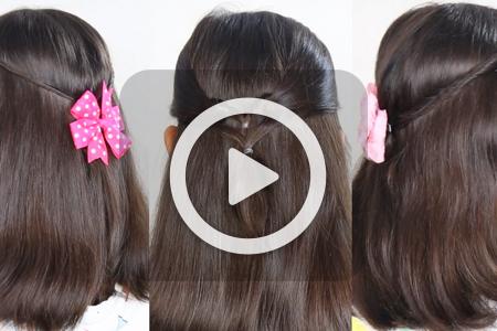 فیلم آموزش بافت موی دخترانه