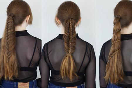فیلم آموزش سه مدل بافت موی دخترانه