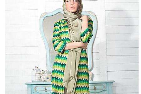پوشش رنگ سبز برای خانم ها 2