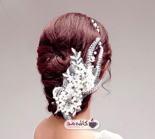 مدل های بسیاز زیبا از گل سرهای عروس