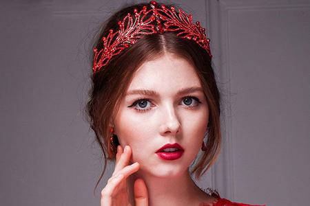 مدل های بسیار زیبا از تاج عروس قرمز 10