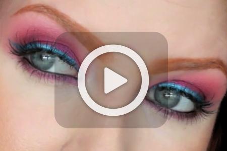 فیلم آموزش آرایش چشم رنگی