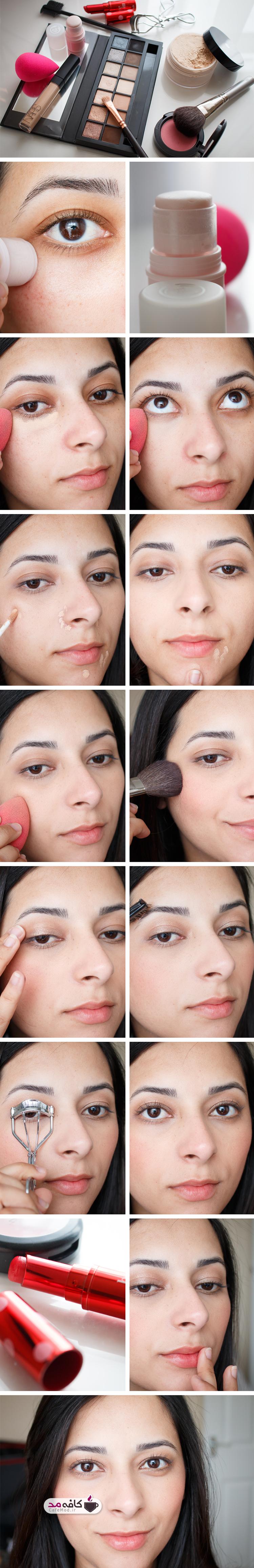 آموزش آرایش چهره ملایم و ساده